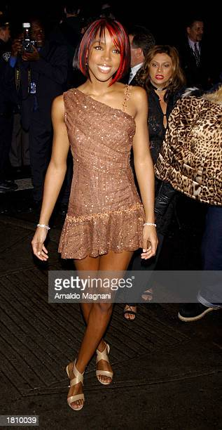 Destiny's Child Kelly Rolland attends Clive Davis' PreGrammy Party at the Regency Hotel February 22 2003 in New York City