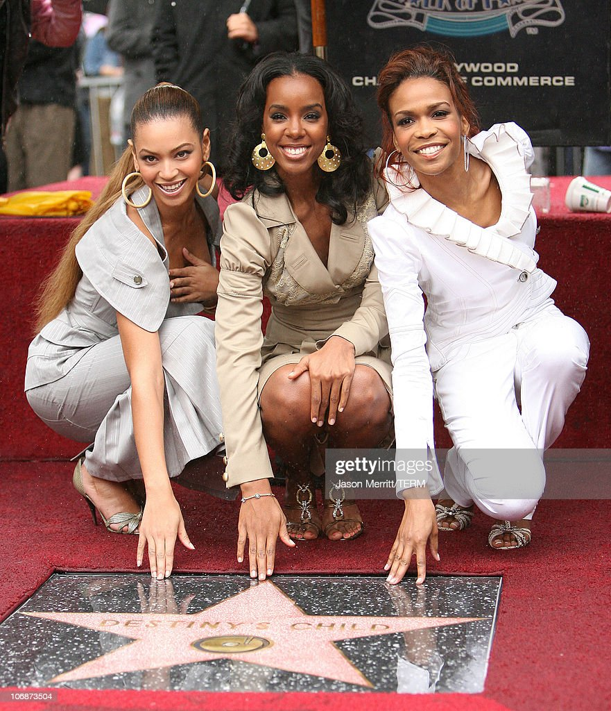 Destiny's Child Honored with a Star on the Hollywood Walk of Fame for Their Achievements in Music : News Photo