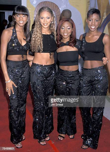 Destiny's Child LeToya Luckett Beyonce Knowles LaTavia Robertson and Kelly Rowland at the Santa Monica Civic Auditorium in Santa Monica California