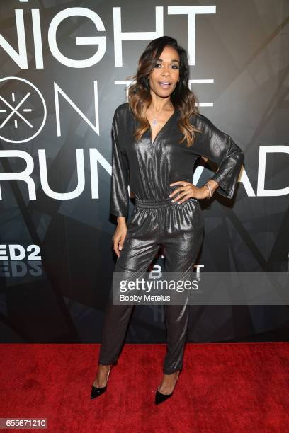 Destiny's Child Michelle Williams attends A Night on the Runwade Event at Revel Fulton Market on March 19th 2017 in Chicago Illinois
