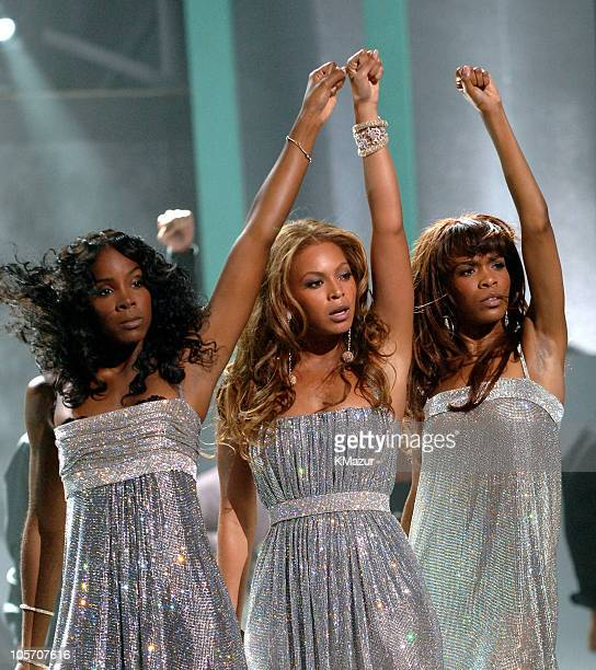 Destiny's Child perform a medley of their hits during 2005 World Music Awards Show at Kodak Theatre in Los Angeles CA United States