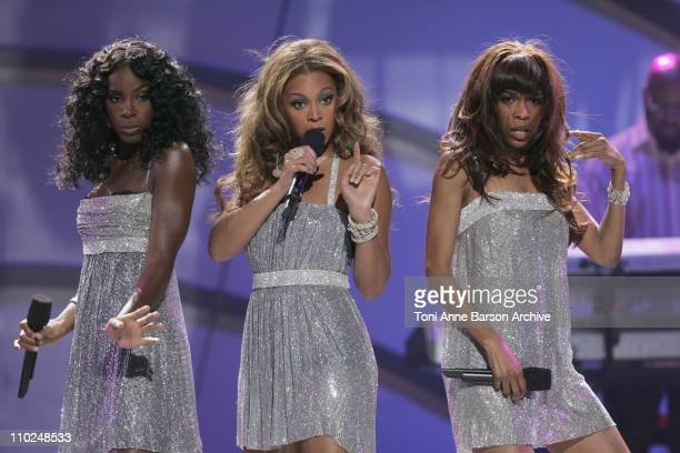 Destiny's Child perform a medley of their hits during 2005 World Music Awards - Show at Kodak Theatre in Los Angeles, CA, United States.