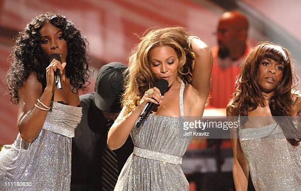 Destiny's Child perform a medley of their hits during 2005 World Music Awards Show at Kodak Theater in Hollywood California United States