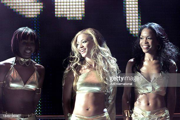 Destinyís Child perform Independent Women Part I on stage during The 21st BRIT Awards with Mastercard, Earls Court 2, London, UK, Monday 26 February...