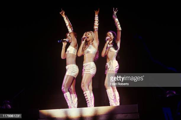 Destiny's Child performing at Hershey Park in Hershey Pennsylvania on July 24 as part of the TRL Tour