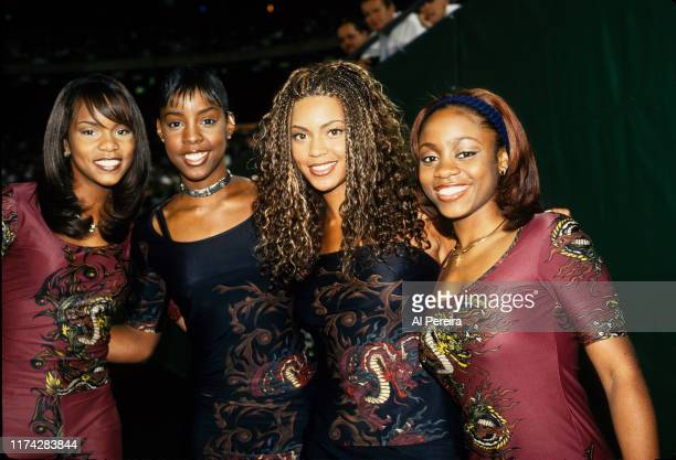 Destiny's Child performs at halftime of the New York Giants v New York Jets game on August 20 at Giants Stadium in East Rutherford New Jersey