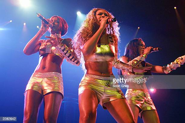 Destiny's Child performs at the opening night of the MTV TRL Tour at the Pepsi Arena in Albany, NY. 7/18/01. Photo by Scott Gries/ImageDirect