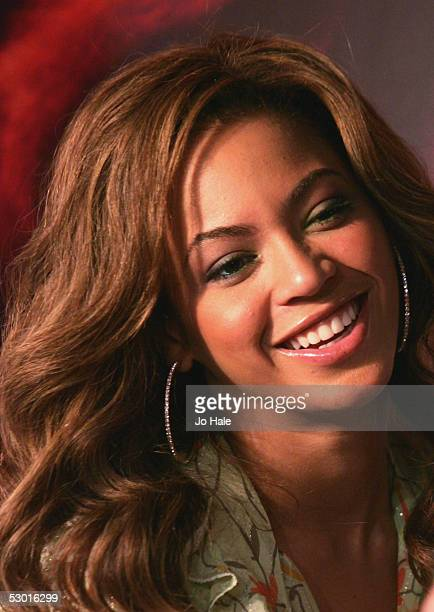 Destiny's Child singer Beyonce Knowles makes a special appearance to promote her Tommy Hilfiger fragrance True Star June 3 2005 in London England