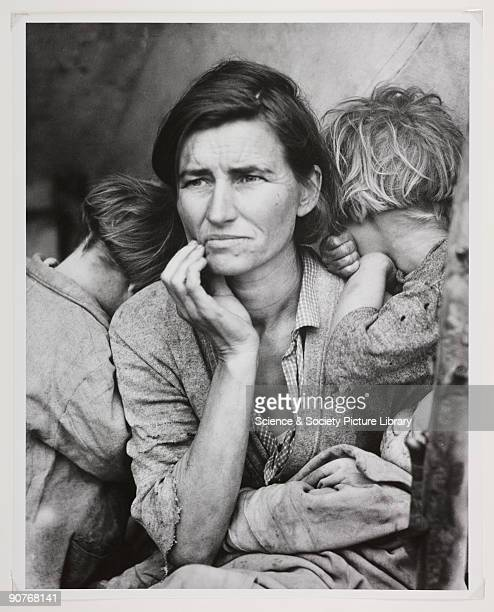 'Destitute pea pickers in California, a 32-year-old mother of seven children.' Photograph taken by Dorothea Lange when working for the Farm Security...