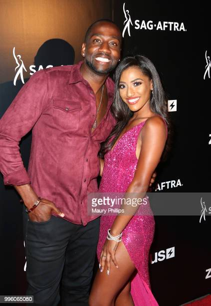 Destorm Power and Janina attend a celebration for The July 13th Global Launch of ZEUS presented by SAGAFTRA and The Zeus Network at Lure Nightclub...