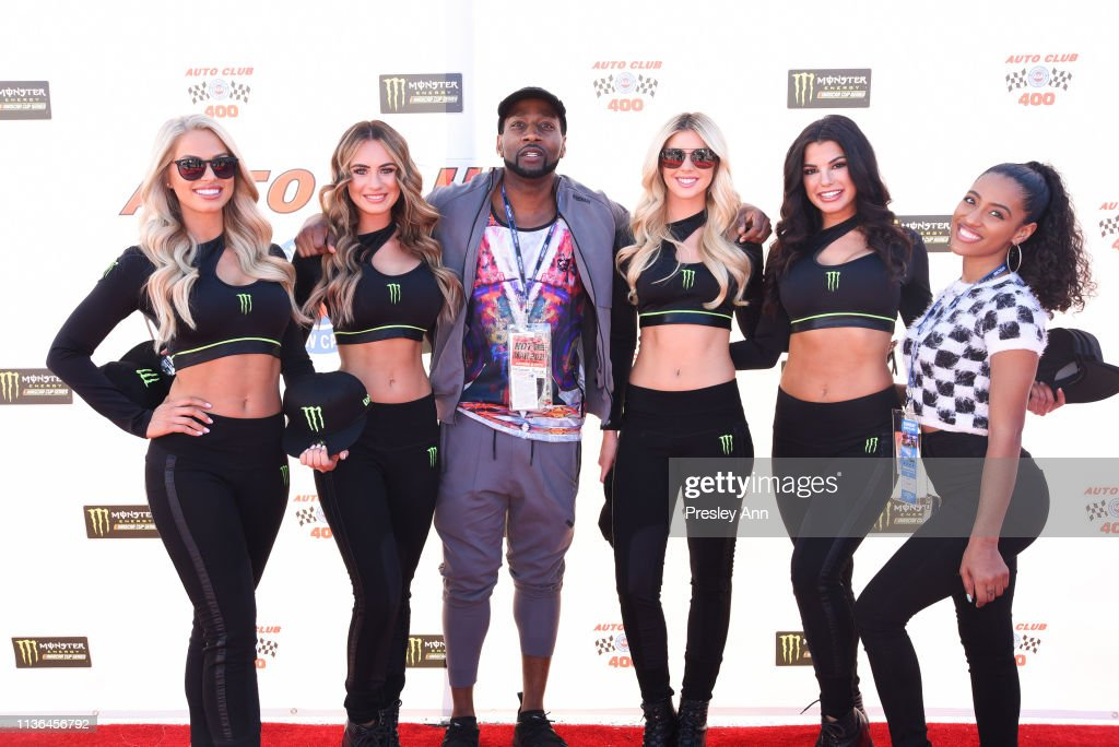 CA: Celebrities at the Monster Energy NASCAR Cup Series race at Auto Club Speedway