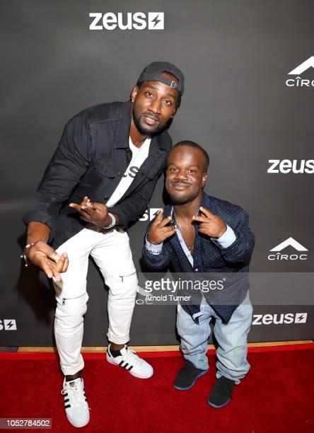DeStorm Power and Kewon Vines attend the ZEUS New Series Premiere Party X CIROC Black Raspberry on October 19 2018 in Burbank California