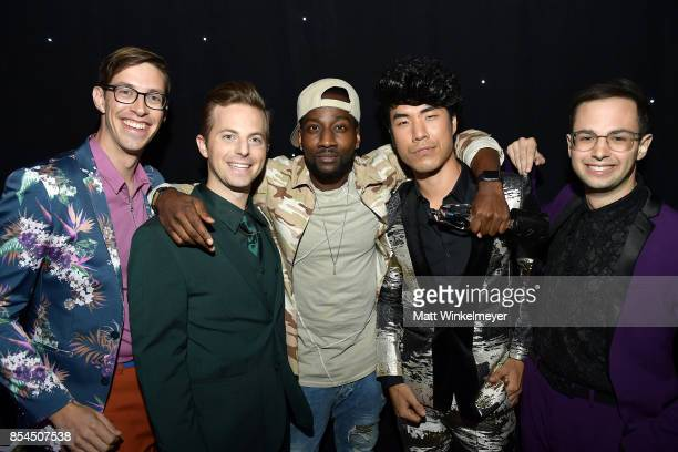 DeStorm Power and the cast of The Try Guys at the 2017 Streamy Awards at The Beverly Hilton Hotel on September 26 2017 in Beverly Hills California