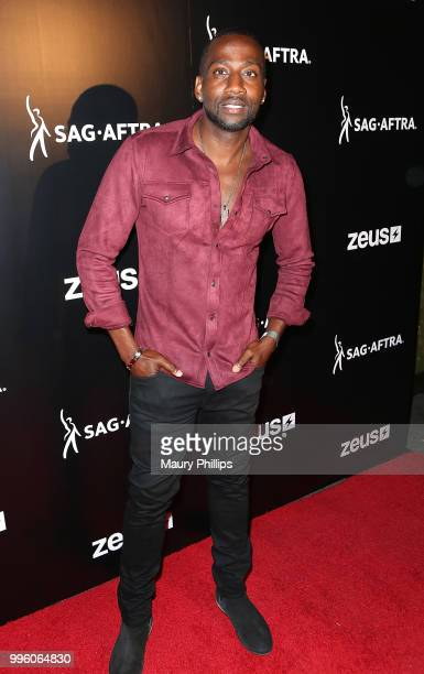 Destorm Power attends a celebration for The July 13th Global Launch of ZEUS presented by SAGAFTRA and The Zeus Network at Lure Nightclub Hollywood on...