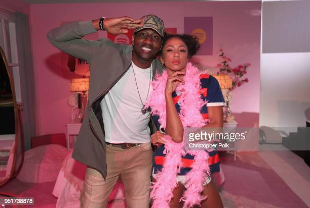 DeStorm Power attends Janelle Monáe's celebration of Janelle Monáe celebrates the launch of her new album and emotion picture Dirty Computer with her...