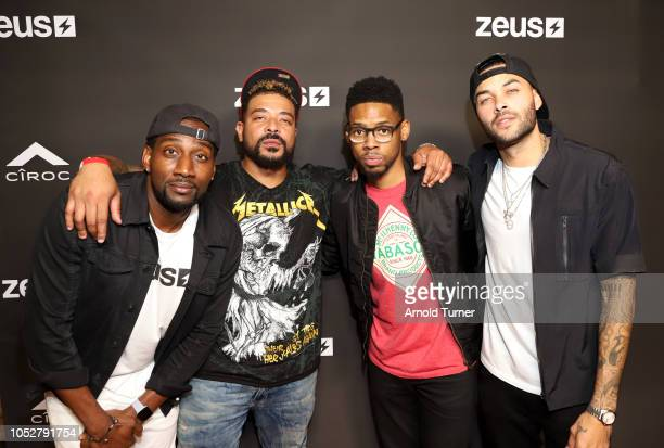 Destorm Power Giovanni Watson Alphonso McCauley and Don Benjamin attend the ZEUS New Series Premiere Party X CIROC Black Raspberry on October 19 2018...