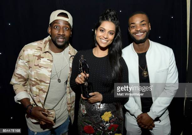 DeStorm Power Lilly Singh and King Bach at the 2017 Streamy Awards at The Beverly Hilton Hotel on September 26 2017 in Beverly Hills California