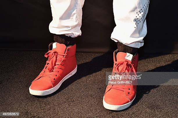 DeStorm Power shoe detail attends the BET Hip Hop Awards 2015 presented by Sprite at Atlanta Civic Center on October 9 2015 in Atlanta Georgia