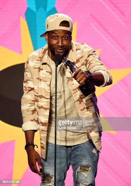 DeStorm Power onstage during the 2017 Streamy Awards at The Beverly Hilton Hotel on September 26 2017 in Beverly Hills California