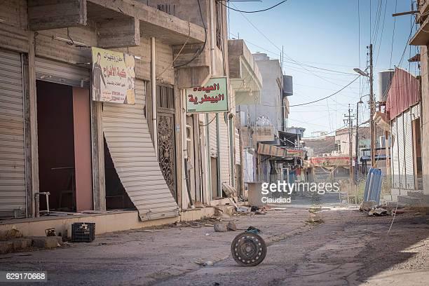 Destroyed and abandoned city of Qaraqosh