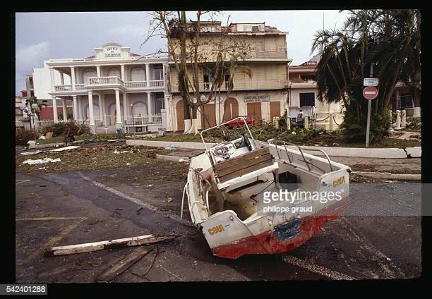 Destroyed Boat After Hurricane Hugo
