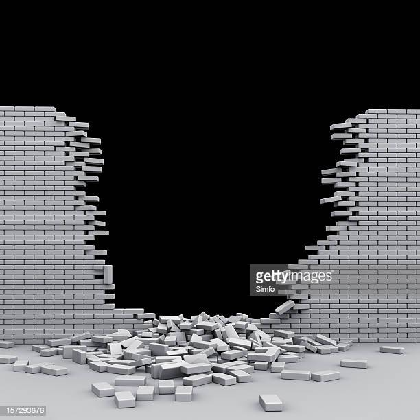 Destroyed brickwall