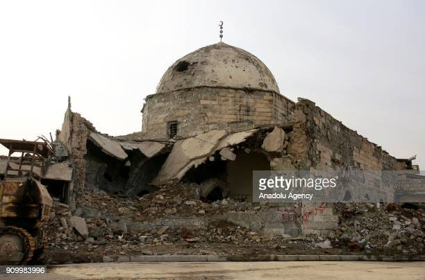 Destroyed buildings are seen in Mosul Iraq after 9 months long anti Daesh operations on January 25 2018