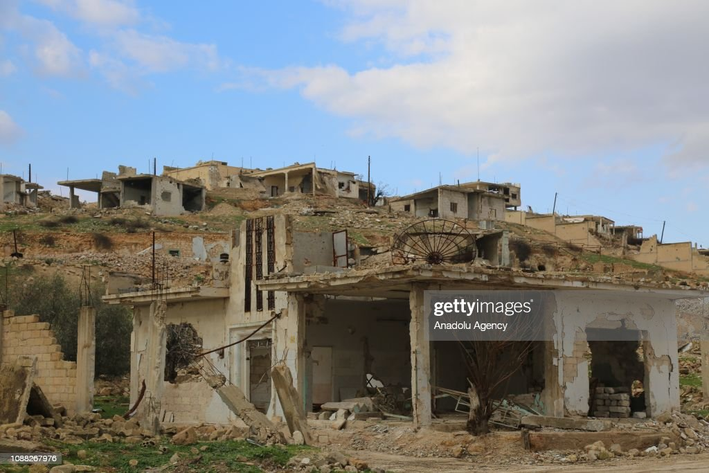 Views of Latamne's ruins after Syrian regime attacks : News Photo