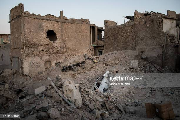 Destroyed buildings are seen in West Mosul on November 3 2017 in Mosul Iraq Five months after Mosul Iraq's secondlargest city was liberated from ISIL...