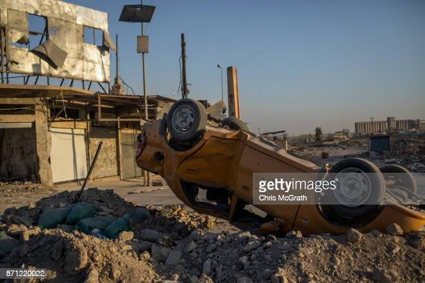 A destroyed car is seen in West Mosul on November 3 2017 in Mosul Iraq Five months after Mosul Iraq's secondlargest city was liberated from ISIL in a...