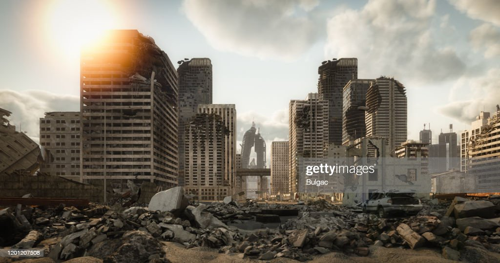 Destroyed Cityscape : Stock Photo