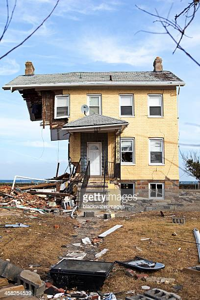 Destroyed home in Union Beach, NJ