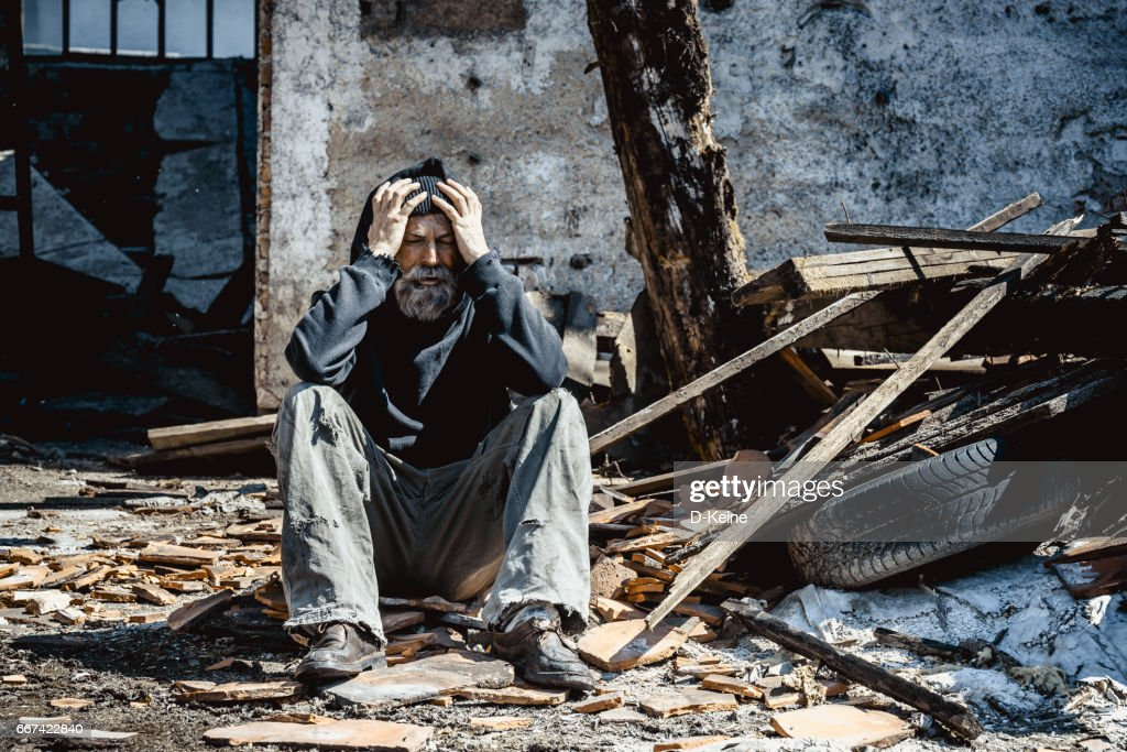 Destroyed house : Stock Photo