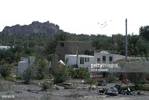 Destroyed houses are seen 05 November 2004 in the southeastern devastated city of Bam where a powerful earthquake killed more than 26000 people 26...