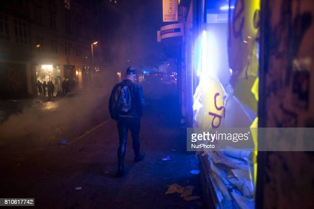 Destroyed shop during riots in St Pauli district during G 20 summit in Hamburg on July 8 2017 Authorities are braced for largescale and disruptive...