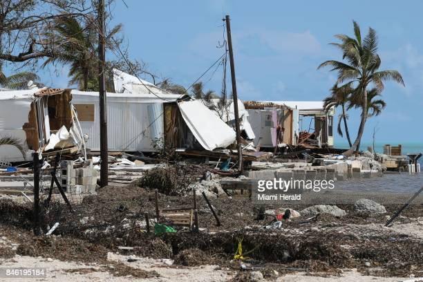 Destroyed trailers at the Seabreeze trailer park along the Overseas Highway in the Florida Keys on Tuesday, Sept. 12, 2017.