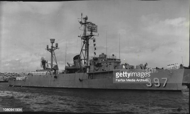 Destroyer Arrives -- The USS Wilhoite, a radar equipped destroyer escort, arrived in Sydney to-day on a five day visit, after participating in...
