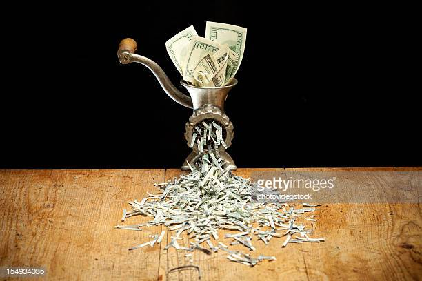 Destroying Dollars with a grinder