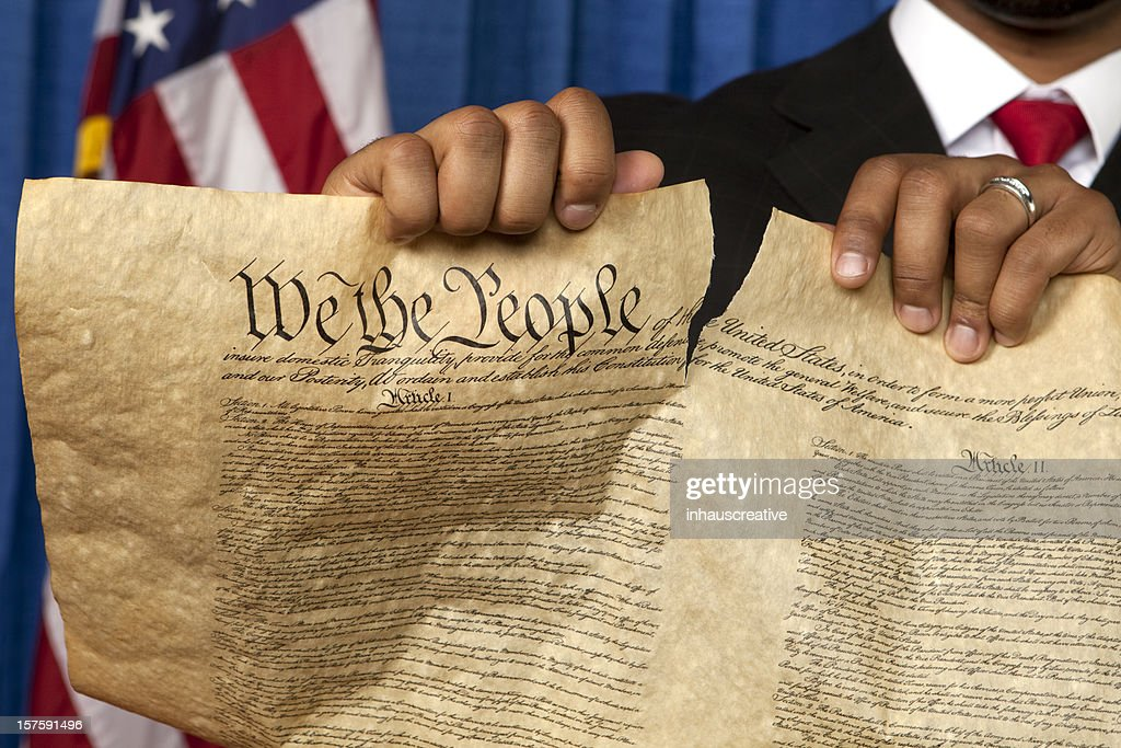 Destroying the Bill of Rights : Stock Photo