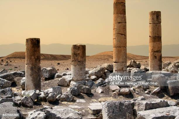 destruction at apamea, syria. - old ruin stock pictures, royalty-free photos & images