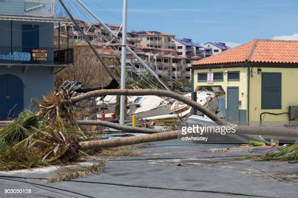 destruction form hurricane Irma downtown cruz bay, St John