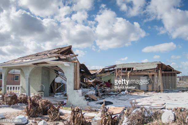 destruction from grand bahama after hurricane dorian - hurricane dorian stock pictures, royalty-free photos & images