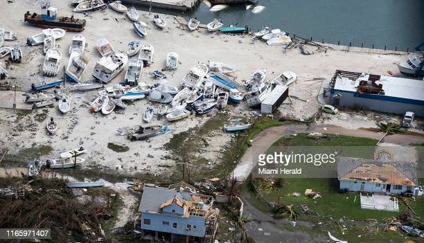 Destruction from Hurricane Dorian at Marsh Harbour in Great Abaco Island, Bahamas on Wednesday, September 4, 2019