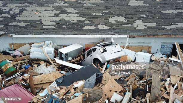 "Destruction from Hurricane Dorian in an area called ""The Mud"" at Marsh Harbour in Great Abaco Island, Bahamas on Thursday, September 5, 2019"