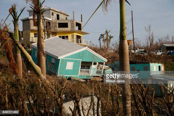 Destruction from Hurricane Irma is seen on St John in the US Virgin Islands on Sept 12 2017 The island was hit hard by Hurricane Irma