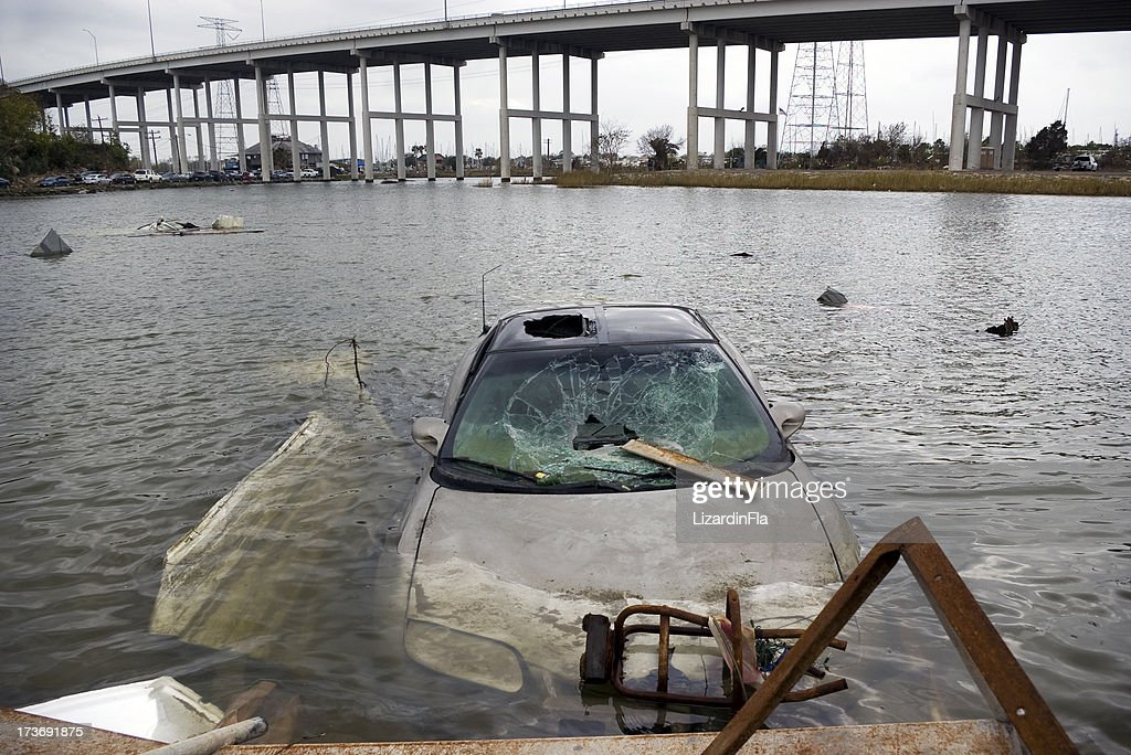 Destruction of a Hurricane. : Stock Photo