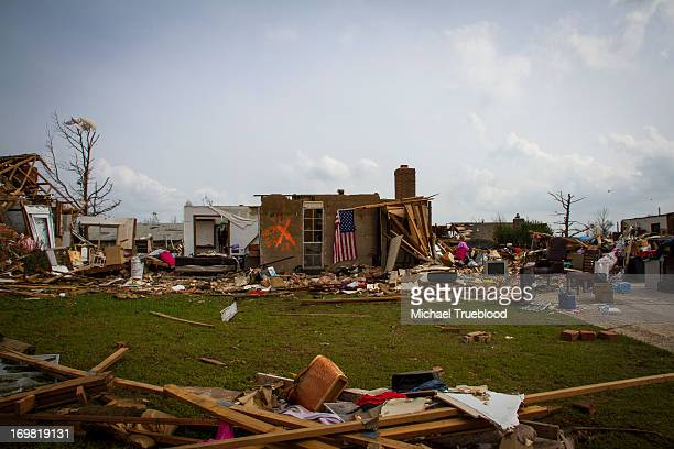 CONTENT] Destruction of house near Telephone Road in Moore Oklahoma as the town tries to recover after an EF5 tornado on May 20 2013
