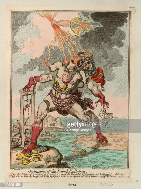 Destruction of the French Colossus 1798 Found in the Collection of Bibliothèque Nationale de France Artist Gillray James