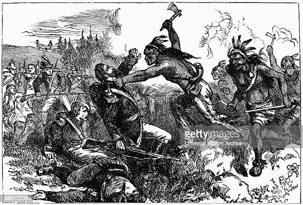 ÒDestruction of the Garrison at WyomingÓ Wyoming Valley Pennsylvania Battle between American Patriots and Loyalists Accompanied by Iroquois during...