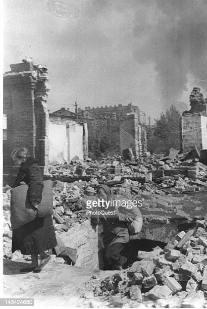 Destruction wrought by German Air Force, Stalingrad, October 1942.